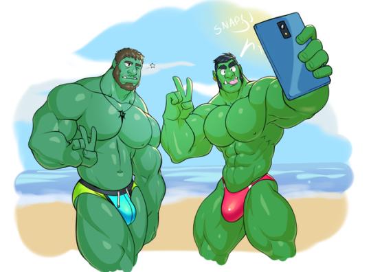 Selfie d'Orc à la plage ! Très bon été les mecs ! <3
