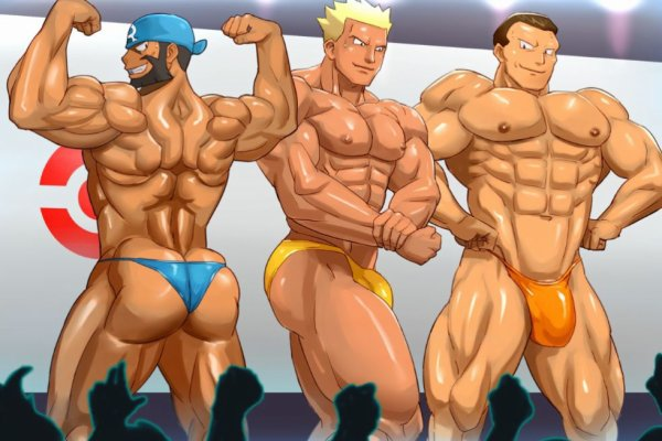 Version soft d'Arthur, Major Bob et Giovanni en concours de muscles ! <3