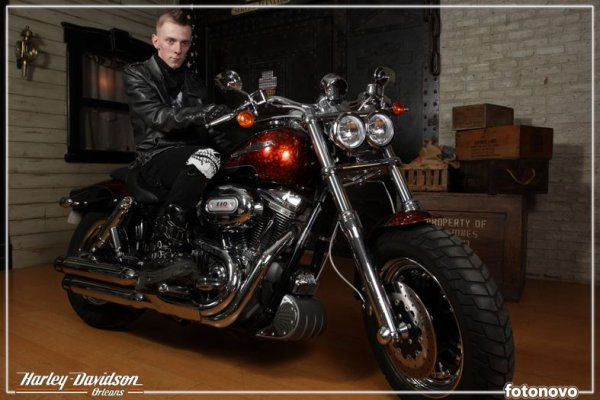 Shooting Harley Davidson