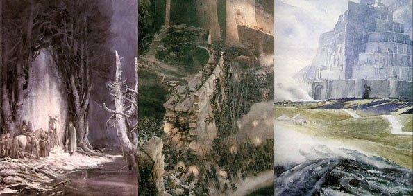 llustration du Seigneur des Anneaux par Alan Lee