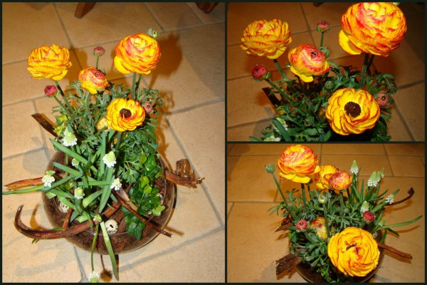 un bouquet retransformé