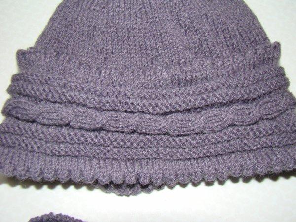 tricot  bonnet  et echarpe pour les deux filles