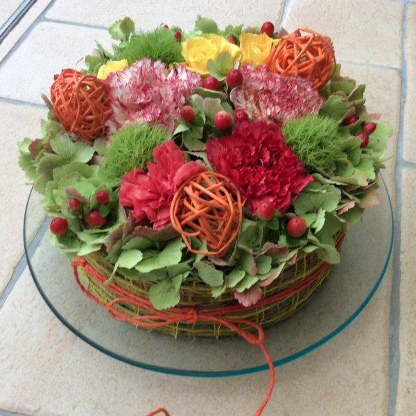 Gâteau fleurit