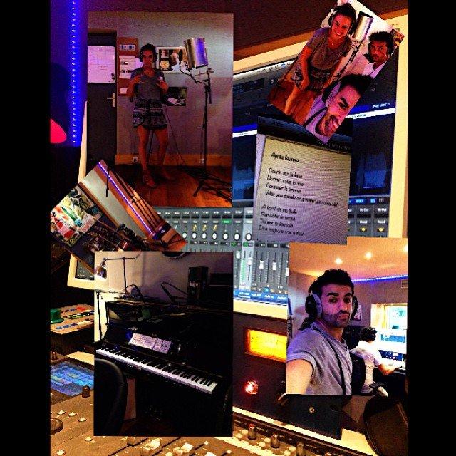 Nazim a partagé quelques photos studieuses avec Alexandra sur facebook