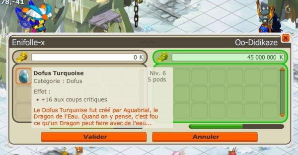 Achat Dofus Turquoise +16 cc pour énu.