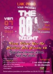 THE 80'S NIGHT (Soirée Années 80)