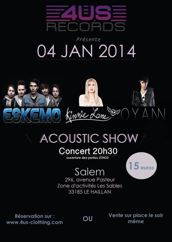 Concert le 4 janvier 2014 à Bordeaux !