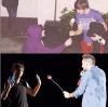 Tout le monde veut offrir une rose à Louis mdrr