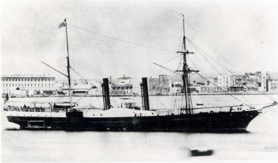 Les navires qui participèrent à l'acheminement des Zouaves Pontificaux vers l'Italie