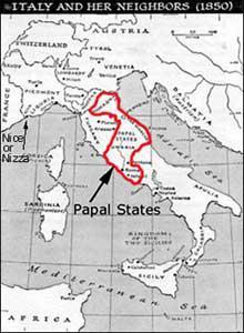 4. Carte des Etats Pontificaux