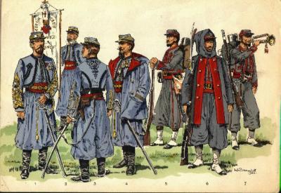 6. Les Zouaves Pontificaux, leurs uniformes