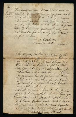 9. Lettres d'Emile de Bie à sa famille, aux amis