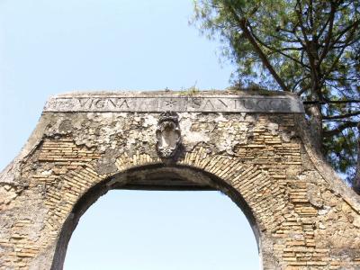 Le portique de la Vigna Santucci