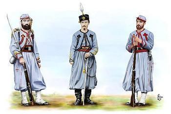 Les Zouaves Pontificaux, leurs uniformes