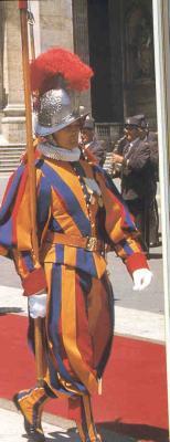 Vestige des Armées du Pape.. Les Gardes Suisses!