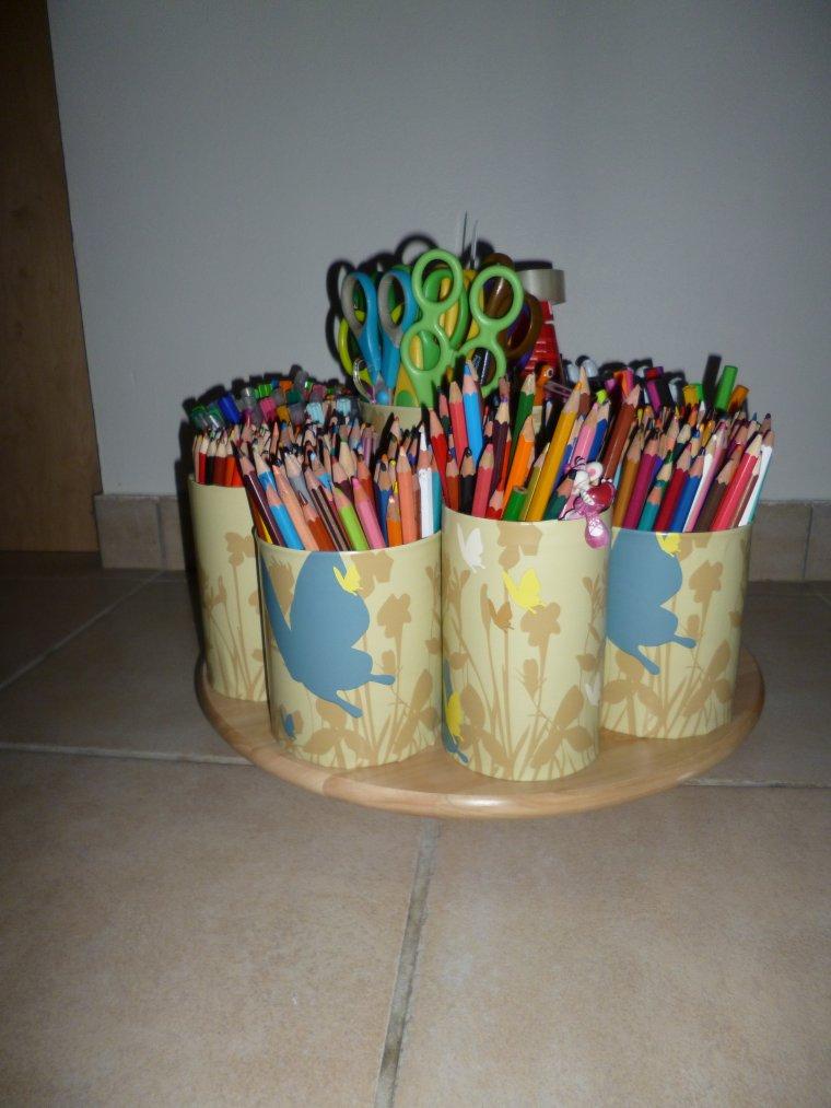 présentoire de crayons,feutres,...