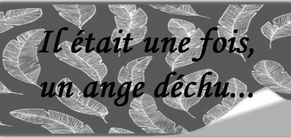 """Nouveau Fan Fic : """"Il était une fois,un ange déchu..."""""""