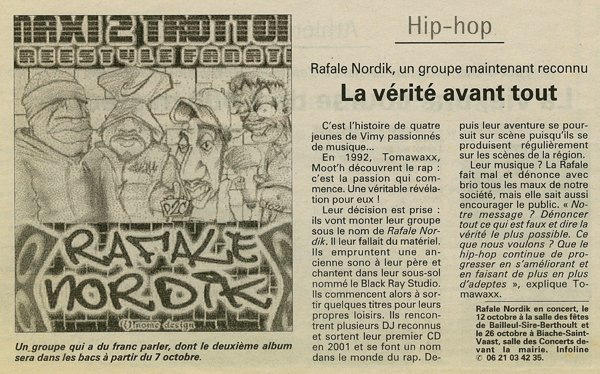 "ARTICLE SORITE DE MAXI 2 TROTTOIR ""2000"""