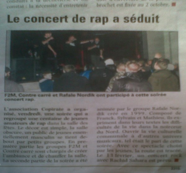 ARTICLE CONCERT ST CATH COPIRATE 2