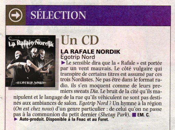 ARTICLE CD VOIX DU NORD