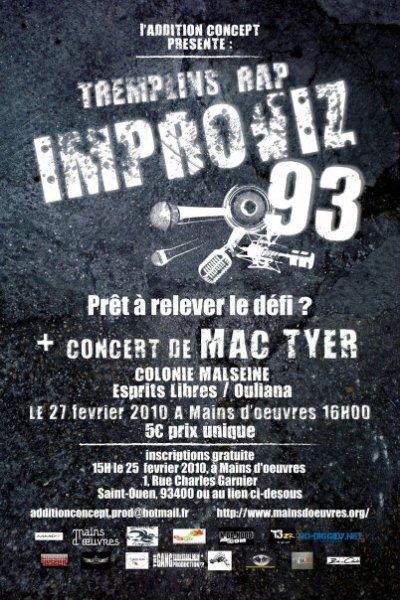 """Présentation du Tremplin """"IMPROVIZ'93"""" (1ère édition)"""
