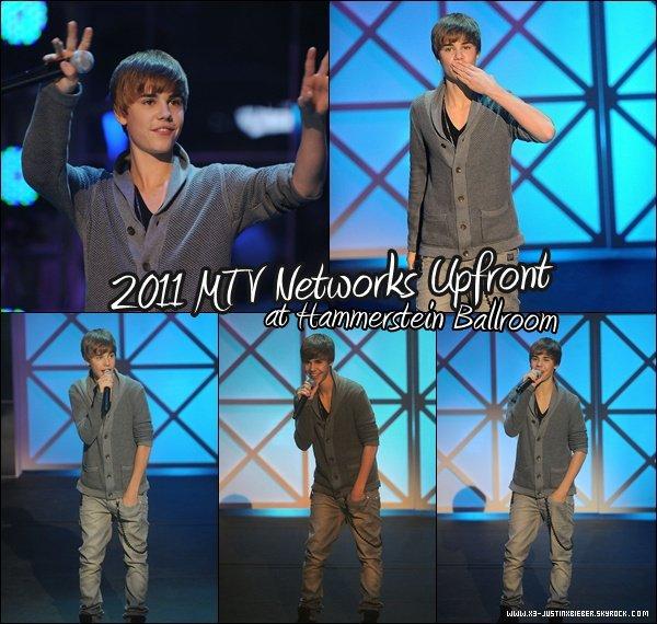 Justin au MTV Networks Upfront at Hammerstein Ballroom à New York le 2 février dernier.