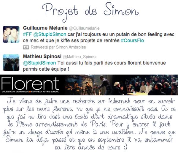 • 24/08/12 : Simon a répondu à un tweet à propos des anges + Petite information sur un projet de Simon + Nouvelle photo