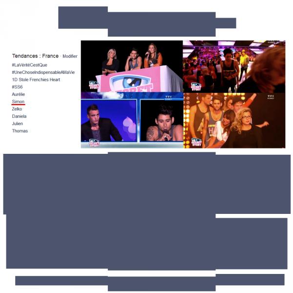 • 24/08/12 : Simon était en direct sur le prime + Photo