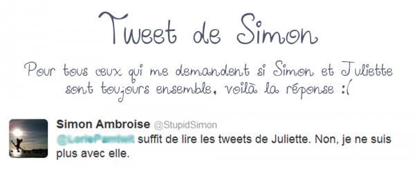 """• 05/09/12 : Simon sera sur le plateau du """" Grand live de Mce spécial finale """" + Tweet de Simon"""