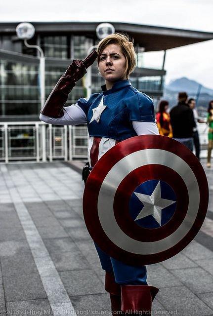 7 cosplay de Captain America Femme Version