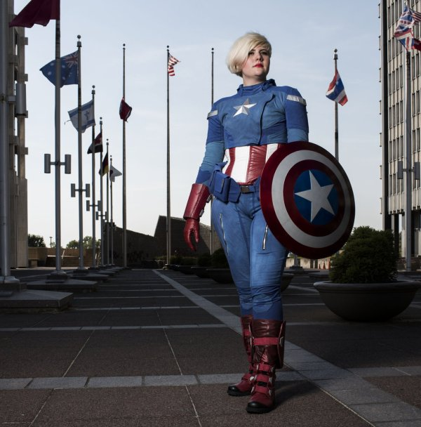 7 cosplay de Captain America Femme Version