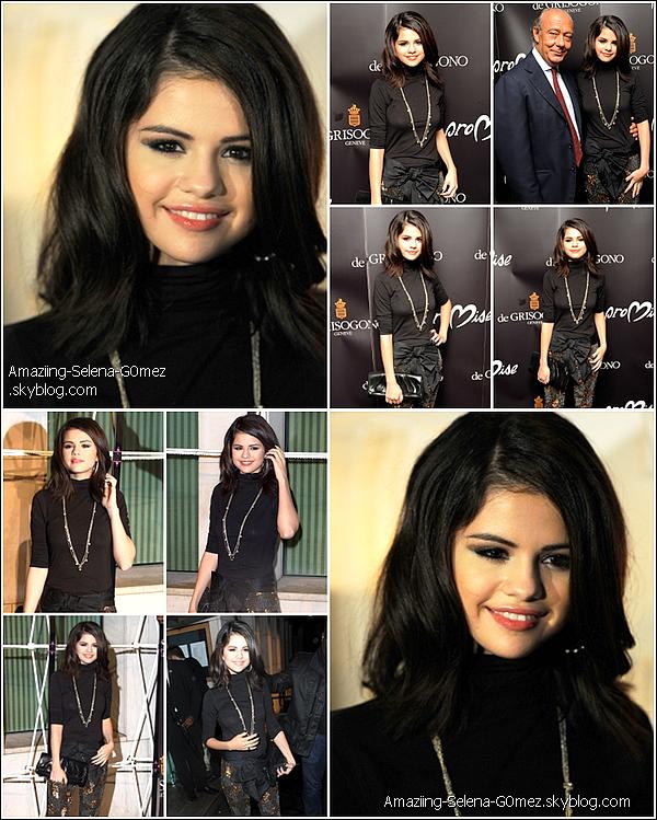 Mercredi 29 Octobre : Notre Magnifique Selena était à un évènement à Londres Celle de la Sortie de la Collection de Bijoux Crée Par Cheryl Cole. Alors Top ou Flop ?