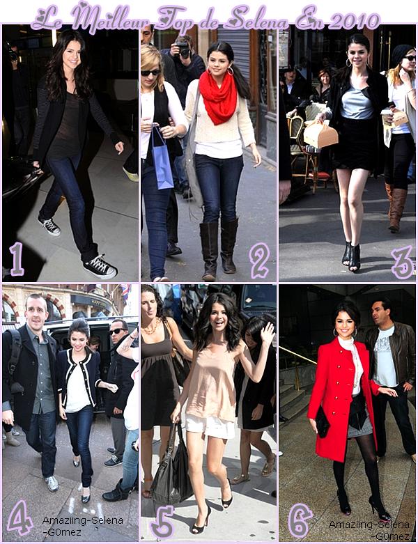 Cette Année 2010 va Bientôt s'achever J'ai Donc Décidée de Mettre Pour Moi les 6 Meilleurs Tenues de Selena Mais Aussi les Pires, C'est à Vous de Choisir.