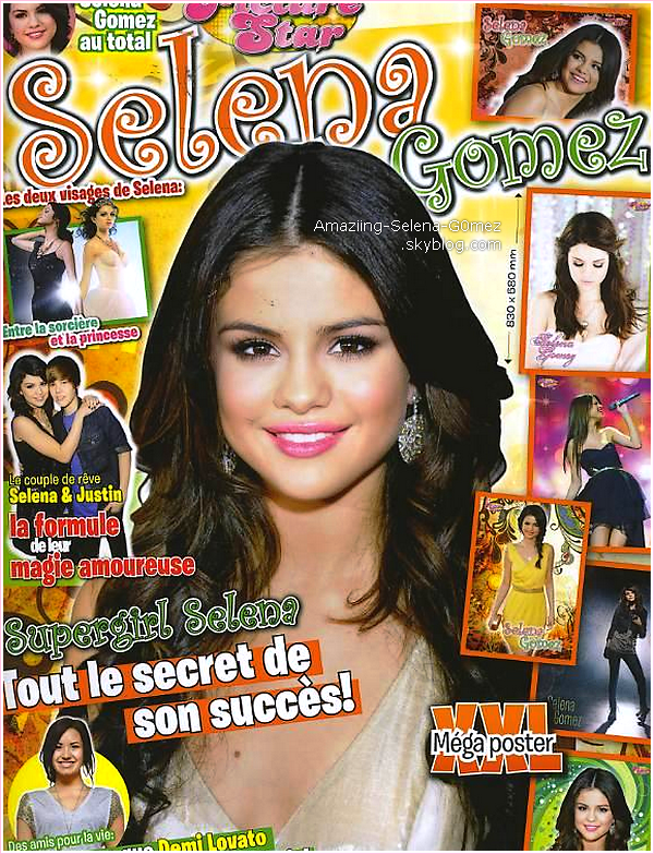 """Découvrez Un Scans Du Magazine Français """"Picture Star"""" Spécial Selena Gomez Que Vous Pouvez Dès Maintenant Achetez."""