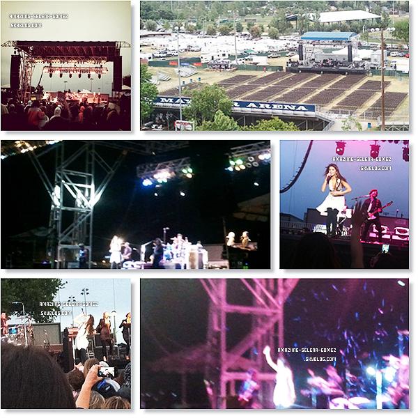 """Samedi 7 Mai : Selena & The Scene Donnant Leur Derniers Concert à Dixon En Californie avant Leur Tourner  """"We Own The Night""""  Qui débutera le 24 Juillet."""