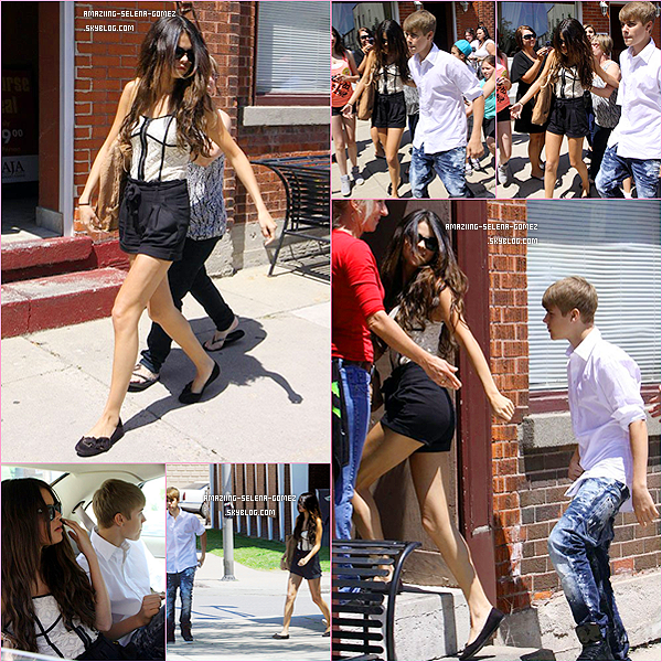 Jeudi 2 Juin : Selena et Justin Quittant la Maison de Celui-ci, Puis Ils ont été Vu Dans Toronto avec Le Père de Justin, Jérémy.
