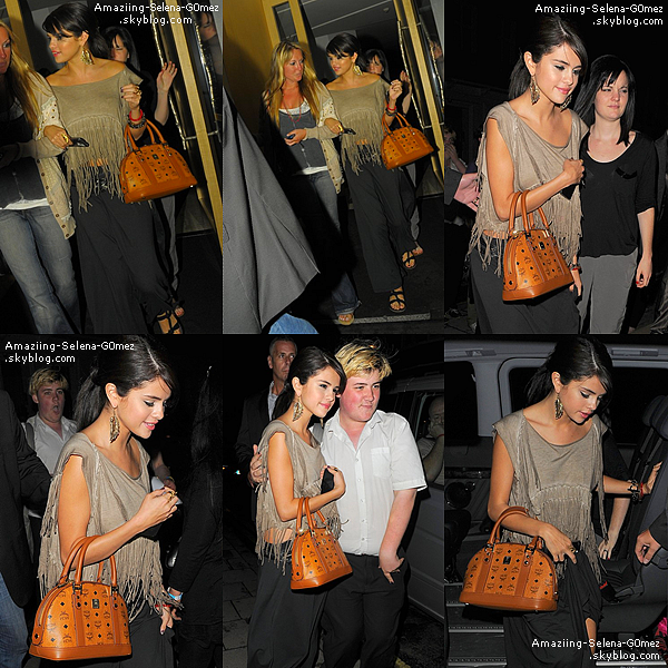 "Mardi 5 Juillet : Selena Quittant son Hôtel Pour Aller Signer des Autographes de son Nouvel Album à HMV à Londres. Selena est Acutellemnt à Londres Pour la Promotion de Son Nouvel Album ""When The Sun Goes Down"""