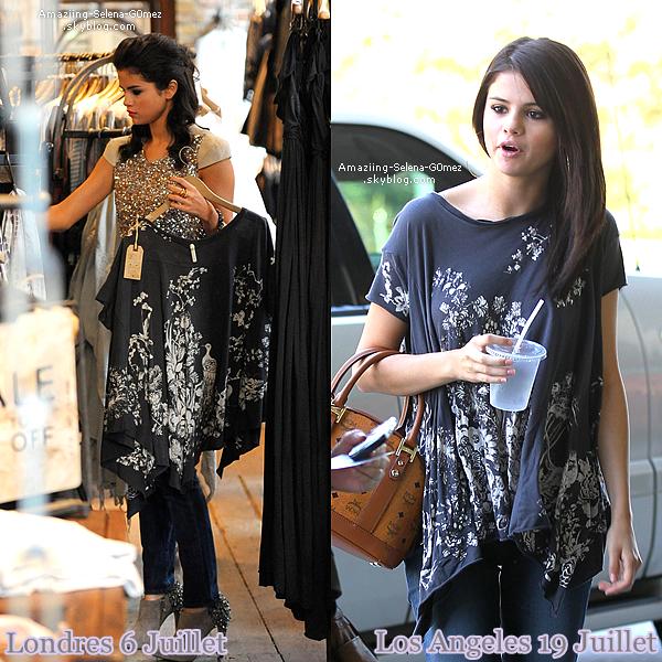 Mardi 19 Juillet : Selena Quittant Le Restaurant Geoffrey après Avoir Pris Un Petit Déjeuner avec Une Amie à Los Angeles.