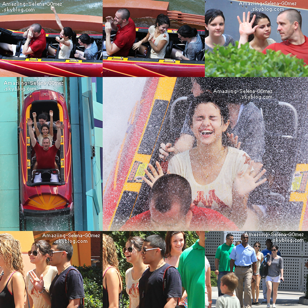 "Vendredi 29 Juillet : Selena en Compagnie de Son Beau-Père et de son Equipe dans le Parc d'attraction ""The Wizarding World of Harry Potter"" en Floride."