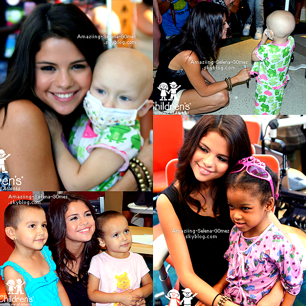 "Mardi 2 Août : Selena Visitant l'hôpital ""Childrens Healthcare"" à Atlanta en Géorgie."