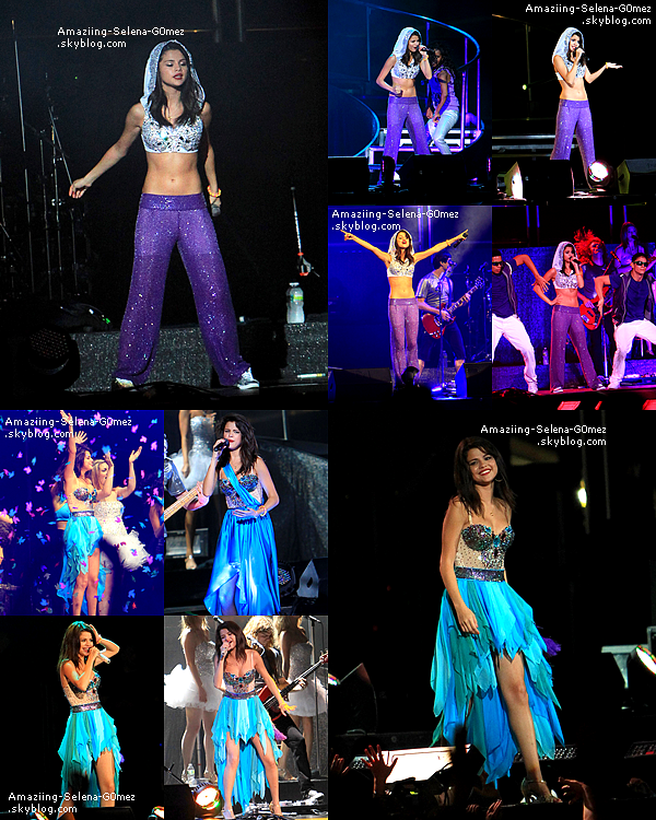 "Mardi 9 Août : Selena & The Scene Donnant un Concert au Darien Center à New York Pour sa Tournée ""We Own The Night Tour"""