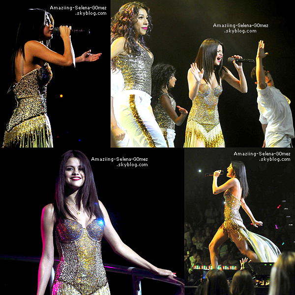 "Mercredi 17 Aout : Selena & The Scene Continuant la Tournée ""We Own The Night"" à Uncasville Dans le Connecticut."