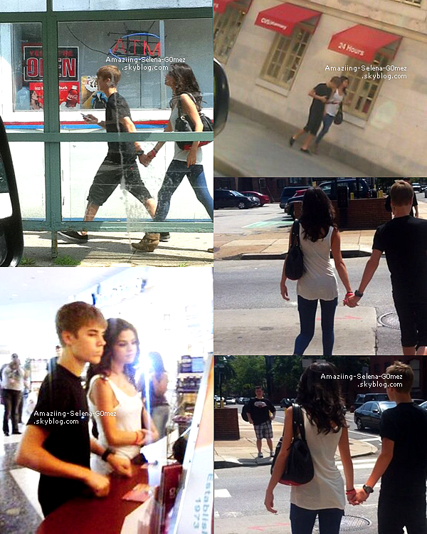 Vendredi 19 Août : Selena et Justin Se Promenant Main dans La Main dans  Un Centre Commerciale à Philadelphie.