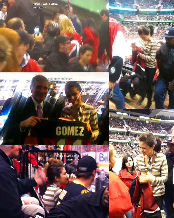Jeudi 27 octobre : Selena Assistant à un Match de Hockey à Ottawa au Canada.