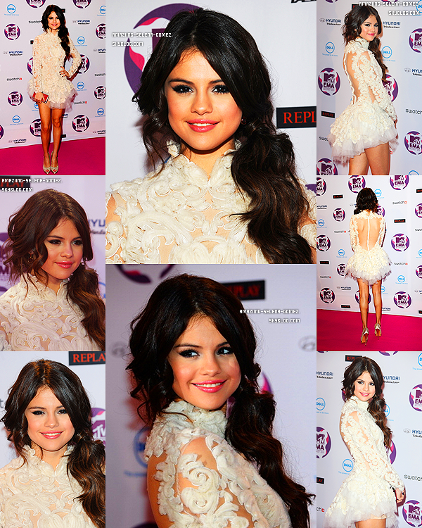 "Dimanche 6 Novembre : Selena sur le Red Carpet des ""MTV Europe Music Awards 2011"" a Belfast en Irlande. Top ou Flop ?"