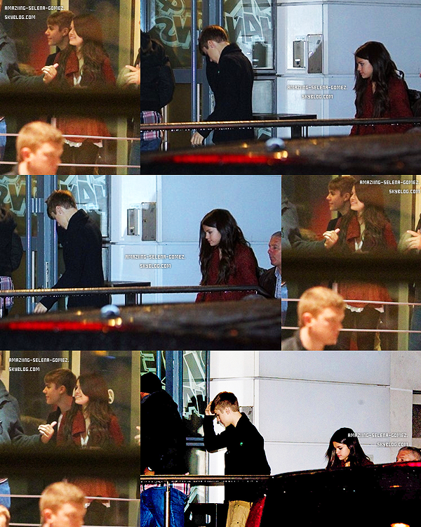"""Mercredi 9 Novembre : Selena et Justin Entourée de Fan et de Pap's Entrant et Sortant du Magasin """" Louis Vuitton"""" à Paris."""