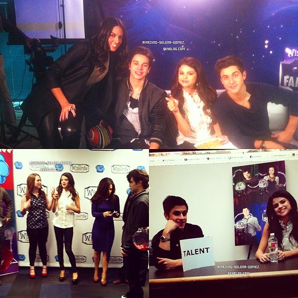 Jeudi 15 Décembre : Selena et le Cast des Sorciers de Waverly Place Donnant une Conférence de Presse à Los Angeles Pour L'episode Finale de la Série qui Sera Diffusée le 6 Janvier 2012 aux Etats-Unis.