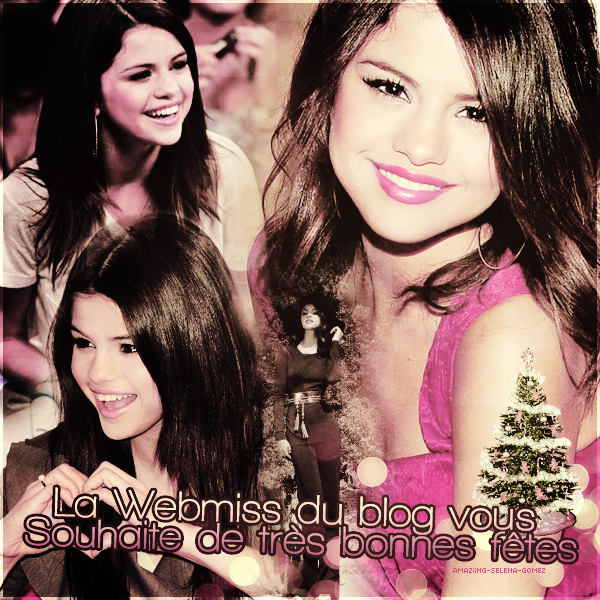 La Webmiss du Blog Amaziing-Selena-G0mez Vous Souhaite à Tous un Joyeux Noël ♥