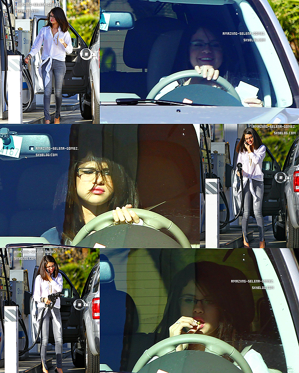 Mardi 3 Janvier : Selena et Ashley Cook Mettant de L'essence Pour Se Rendre au Drive de Mc Donalds à Los Angeles.