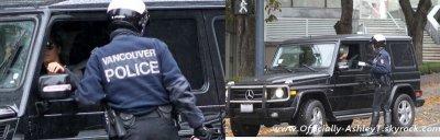 Le 5 Novembre , Ashley est allé a son cours de gym à Vancouver , elle s'est fait arrêter par un policier car elle téléphonait au volant .